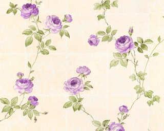 A.S. Création Tapete «Fliesen, Beige, Grün, Violett» 345015