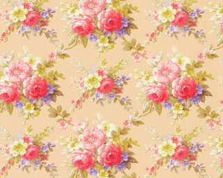 A.S. Création papier peint «Fleurs, multicolore, métallique» 345082
