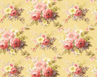 A.S. Création papier peint «Fleurs, jaune, multicolore» 345084