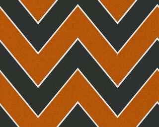 Livingwalls papier peint «Graphique, métallique, noir, orange» 347752