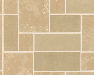A.S. Création Wallpaper «Tile, Beige, Bronze, Brown, Metallic» 347791