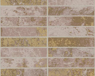 A.S. Création Wallpaper «Tile, Beige, Brown, Metallic, Silver» 348182