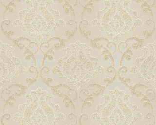 A.S. Création Wallpaper «Baroque, Beige, Cream, Gold, Metallic» 348601