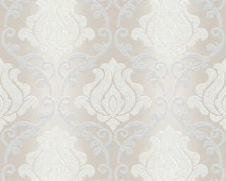 A.S. Création Wallpaper «Baroque, Cream, Grey, Metallic, Silver» 348602