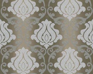 A.S. Création papier peint «Baroque, argent, bronze, gris, marron» 348603