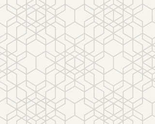 A.S. Création Wallpaper «Graphics, Beige, Metallic, White» 348691