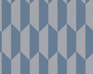 A.S. Création Wallpaper «Graphics, Blue, Grey» 349002