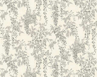 ORIGINALS Wallpaper «Floral, Grey, Metallic, Silver, White» 351142