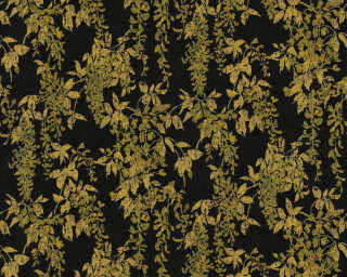 ORIGINALS Wallpaper «Floral, Black, Gold, Metallic» 351144