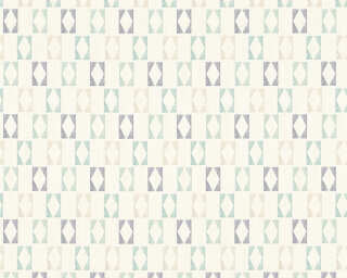 A.S. Création Wallpaper «Graphics, Blue, Grey, Turquoise, White» 351181