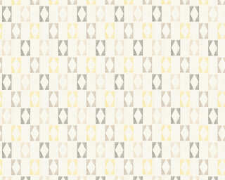 A.S. Création Wallpaper «Graphics, Grey, White, Yellow» 351184