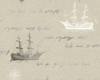 A.S. Création papier peint «Maison, argent, beige, bleu, gris» 351841