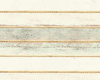 A.S. Création Tapete «Holz, Landhaus, Beige, Creme, Grün» 353403