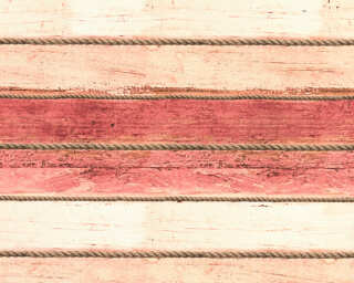 A.S. Création Wallpaper «Wood, Cottage, Brown, Cream, Red» 353405