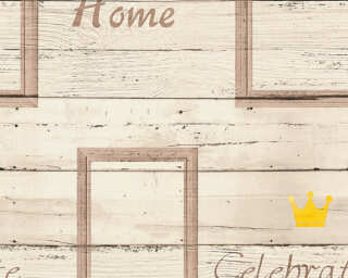 A.S. Création Wallpaper «Wood, Brown, Cream, Yellow» 353412