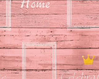 A.S. Création Wallpaper «Wood, Cream, Pink, Yellow» 353414