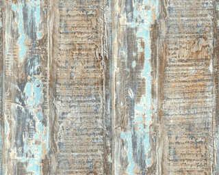 A.S. Création Tapete «Holz, Landhaus, Blau, Braun, Grün» 354131