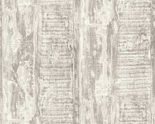 A.S. Création non-woven wallpaper «Wood, Cottage, Cream, Grey» 354134