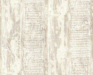A.S. Création non-woven wallpaper «Wood, Cottage, Beige, Cream» 354135