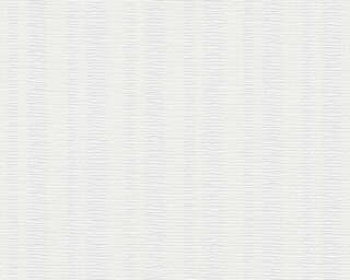 A.S. Création Wallpaper «Stripes, Paintable, White» 355218