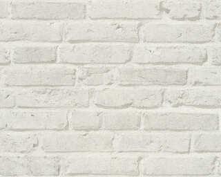 A.S. Création papier peint «Pierre, gris» 355814