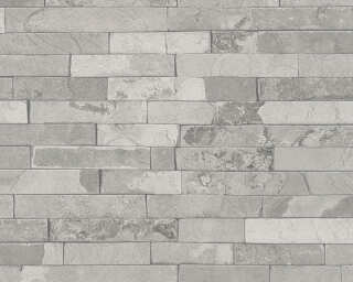 A.S. Création Wallpaper «Stone, Grey» 355821