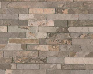 A.S. Création Wallpaper «Stone, Beige, Brown» 355822
