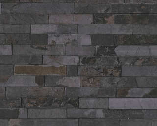 A.S. Création Wallpaper «Stone, Black, Grey» 355825