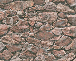 A.S. Création Wallpaper «Stone, Black, Brown, Red» 355832