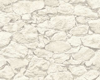 A.S. Création Wallpaper «Stone, Cream, Grey» 355833