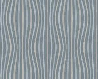 A.S. Création papier peint «Rayures, blanc, gris, métallique» 355974