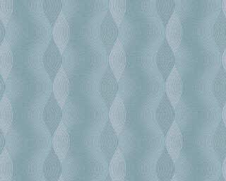 A.S. Création papier peint «Rayures, blanc, bleu» 356042