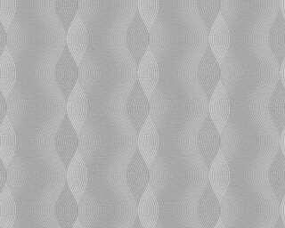 A.S. Création papier peint «Rayures, blanc, gris» 356043