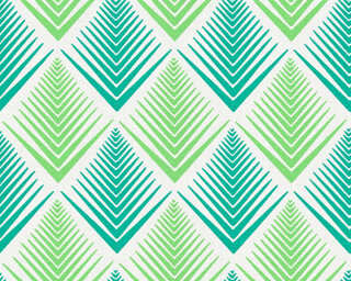 A.S. Création papier peint «Graphique, crème, vert» 356063
