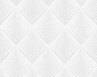A.S. Création papier peint «Graphique, argent, crème, métallique» 356064