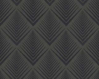 A.S. Création papier peint «Graphique, noir» 356065