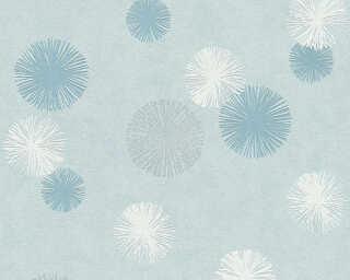 A.S. Création Обои «Графика, Белые, Металлик, Синие» 356073