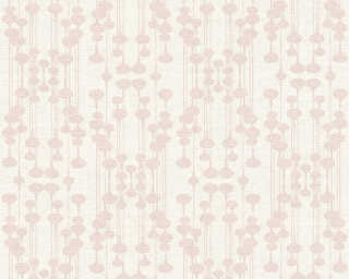 A.S. Création Wallpaper «Graphics, Metallic, Pink, White» 356901