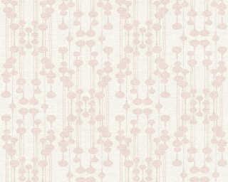 A.S. Création papier peint «Graphique, blanc, métallique, rose» 356901
