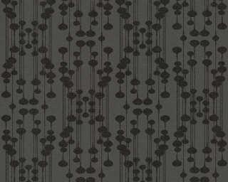 A.S. Création papier peint «Graphique, métallique, noir» 356902