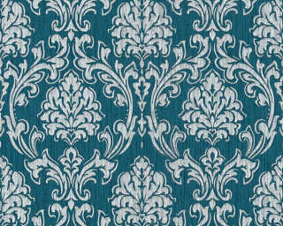 Esprit Home Wallpaper «Baroque, Blue, Grey, Metallic, Silver» 357021