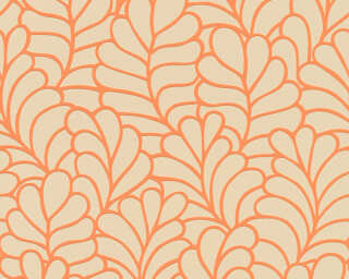 Esprit Home Wallpaper «Graphics, Beige, Orange» 357112