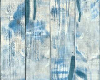 Livingwalls papier peint «Rayures, bleu» 358051