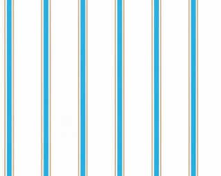 Esprit Home Wallpaper «Stripes, Blue, Brown, White» 358312