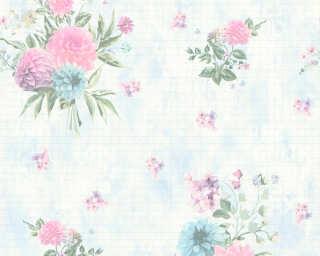 Djooz Tapete «Blumen, Blau, Bunt» 358732