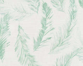 Private Walls Wallpaper «Cottage, Floral, Blue, Green, Grey» 358964