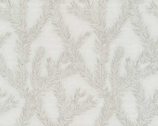 Private Walls Wallpaper «Graphics, Floral, Beige, Grey, Metallic, Taupe» 358982