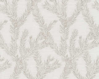 Private Walls Wallpaper «Graphics, Floral, Beige, Cream, Metallic» 358983