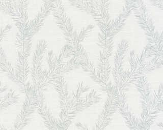 Private Walls Wallpaper «Graphics, Floral, Metallic, Silver, White» 358984
