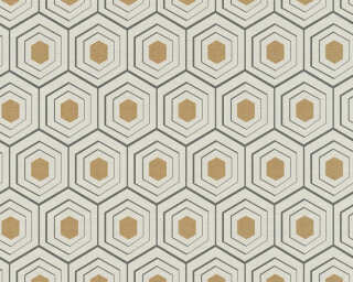 Private Walls Wallpaper «Graphics, 3D, Beige, Black, Copper, Metallic» 358991